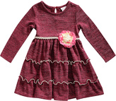 Youngland Burgundy Tiered A-Line Dress - Infant & Toddler