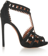 Alaia Laser-cut suede sandals