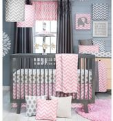 Glenna Jean Swizzle Crib Bedding Collection in Pink