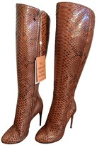 Gucci Brown Python Boots