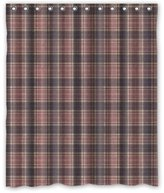 """Abstract Shower Curtain 60""""(w) x 72""""(h) Cute Abstract Checked Pattern Shower Curtain, Classic Elegant Latticework Plaid Pattern Theme Print 100% Polyester Bathroom Shower Curtain Shower Rings Included"""