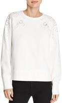 Rag & Bone Embroidered Eyelet Sweatshirt