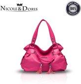 Nicole&Doris New Soft Fringe Bag Tassel Handbag Women's Totes Shoulder Crossbody Messenger Bags Purse PU Leather