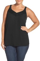 Sejour Plus Size Women's Lace Trim Camisole