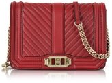 Rebecca Minkoff Red Quilted Leather Small Love Crossbody Bag