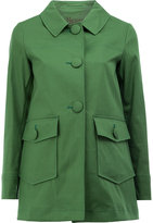 Herno flap pockets coat - women - Cotton/Polyester/Polyurethane - 40