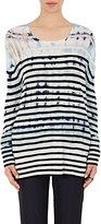 Raquel Allegra Women's Tie-Dyed & Striped Sweater