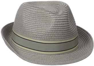 Henschel Hats Henschel Men's Crushable Fedora with Braided Strips and Grosgrain Bow Band