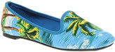 ASOS LEON Slipper Shoes with Tropical Print