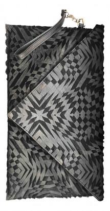 Gareth Pugh Black Leather Clutch bags