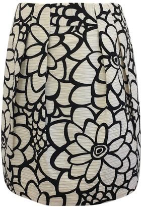 Tara Jarmon Ecru Cotton Skirt for Women Vintage