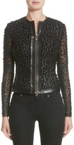 Versace Women's Pieced Leather Jacket