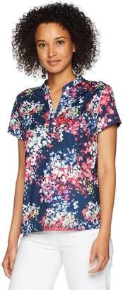 Haggar Women's Cap Sleeve Polo Tee Shirt