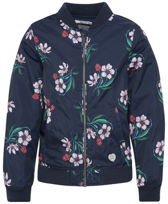 Pepe Jeans Floral Print Bomber Jacket, 8-16 Years