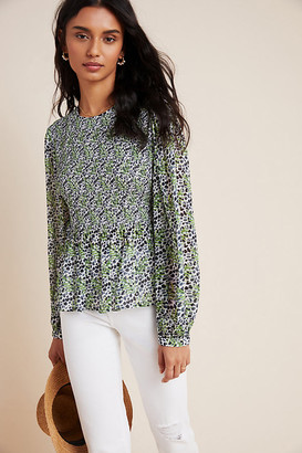 Bl Nk Cecile Smocked Blouse By Bl-nk in Assorted Size XS