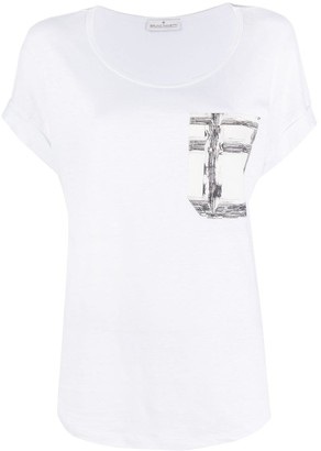 Bruno Manetti chest pocket short sleeve T-shirt