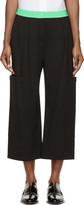 Roksanda Black and Green Colorblock Monfort Trousers