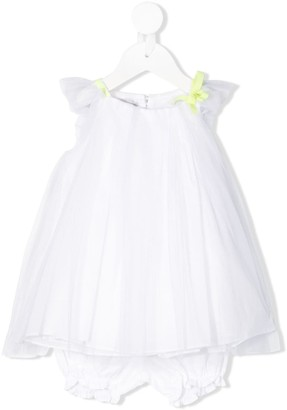 Christian Dior Bow Detail Tulle Dress