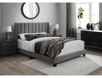 DG Casa Herman Queen Upholstered Standard Bed Color: Gray