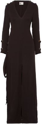 Lanvin Lace-up Crepe Gown