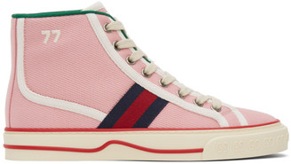 Gucci Pink Tennis 1977 High-Top Sneakers