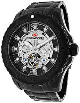Seapro SP3312 Men's Tidal PX1 Black Stainless Steel Watch