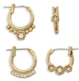 Luv Aj Women's Full Bloom Set Of 4 Hoop Earrings