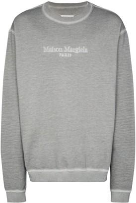 Maison Margiela Embroidered-Logo Oversize Sweatshirt