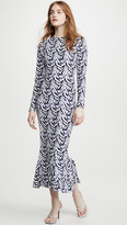 Norma Kamali Long Sleeve Fishtail Dress