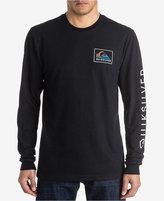 Quiksilver Men's Long-Sleeve Heat Wave Graphic-Print T-Shirt