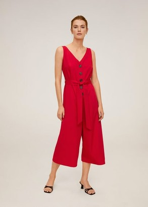 MANGO Buttons culotte jumpsuit red - S - Women