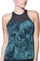 Nike Women's Printed High-Neck Tankini Top
