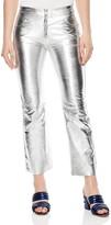 Sandro Iggy Metallic Leather Cropped Pants