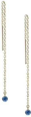 Ila Bombshell 14K Yellow Gold & Sapphire Chain Drop Threader Earrings
