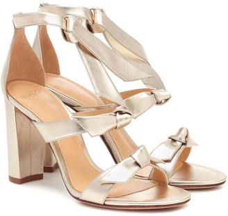 Alexandre Birman Lolita metallic leather sandals