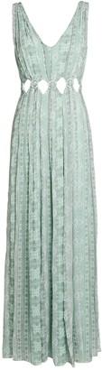 Intermix Elisa Silk Paisley Maxi Dress