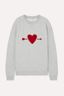 The Upside One Love Printed Cotton-terry Sweatshirt - Gray