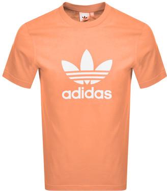 adidas Trefoil Logo T Shirt Orange