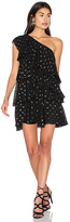 Cynthia Rowley One Shoulder Ruffle Dress in Black