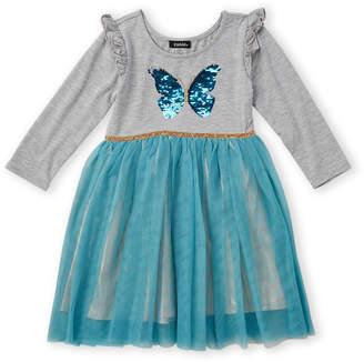 Zunie Girls 4-6x) Sequin Butterfly Long Sleeve Tutu