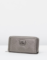 Love Moschino Square Quilted Zip Wallet