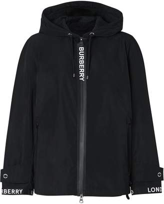 Burberry Hooded Long-Sleeve Jacket