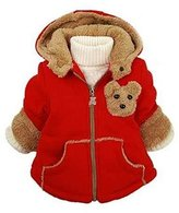 kids Clothes Jacket - SODIAL(R)Baby Girls Boys kids Clothes Jacket Winter Warm Coat Toddlers Hoodies Coat 3-4Years