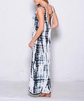 Paparazzi Black Tie-Dye Double-V Maxi Dress