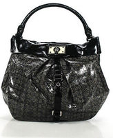 Marc by Marc Jacobs Gray Black Patent Leather Hobo Handbag