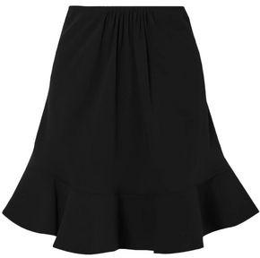 Chloé Fluted Gathered Crepe Mini Skirt