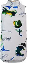 Colour Fashion Women's Ex Next Sleeveless High Roll Neck Tulips Print Blouse