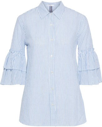 Stateside Tiered Striped Cotton Shirt