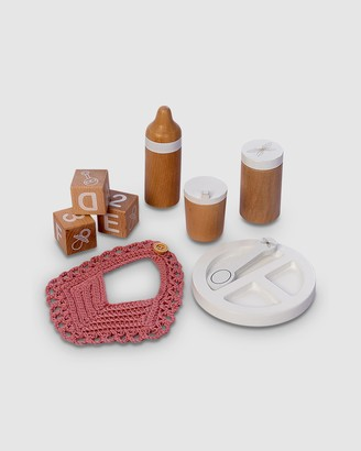 Astrup - Girl's Brown Wooden Toys - Wooden Doll Feeding Set, 9pcs - Size One Size at The Iconic