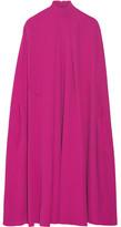 Valentino Cape-effect Silk-cady Midi Dress - Fuchsia